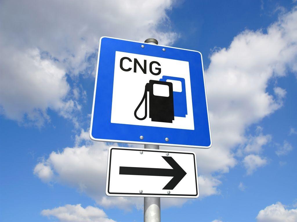 Schild CNG-Tankstelle