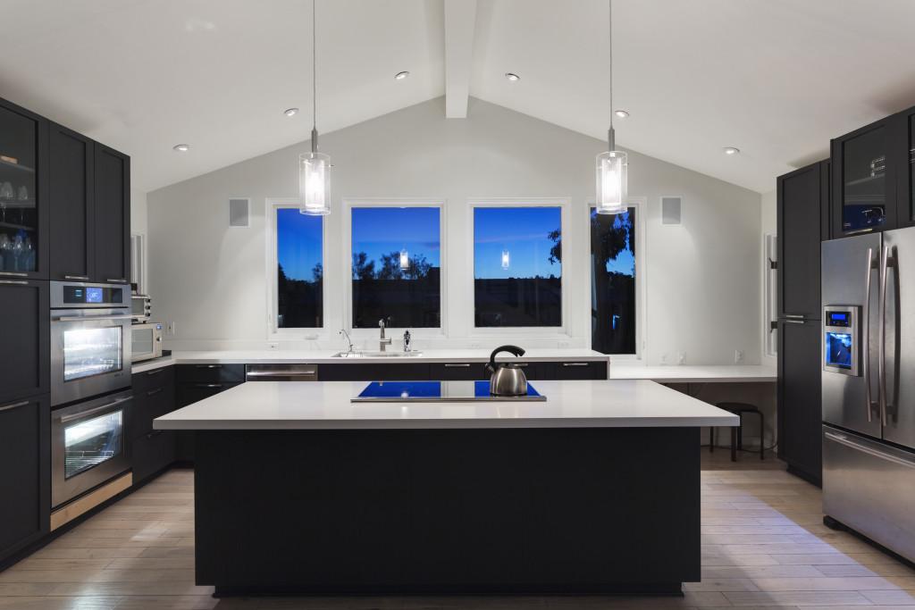 An interior of a rich house kitchen