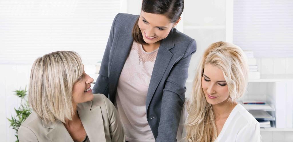 Angenehmes Betriebsklima unter Frauen im Bro