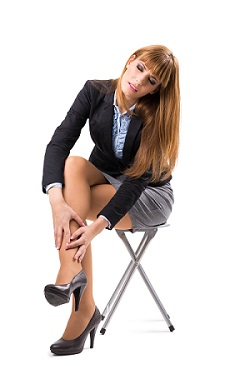 Business Woman having ankle pain