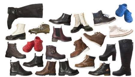 Large Group of isolated shoes