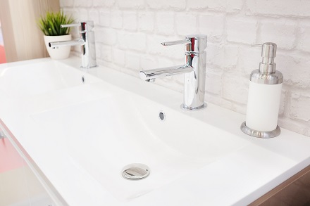 wash basin in a modern bathroom