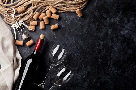 Wine, glasses and corkscrew
