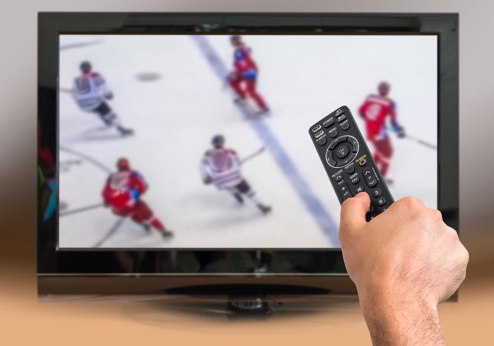 Hokejový zápas, internetové vysílání