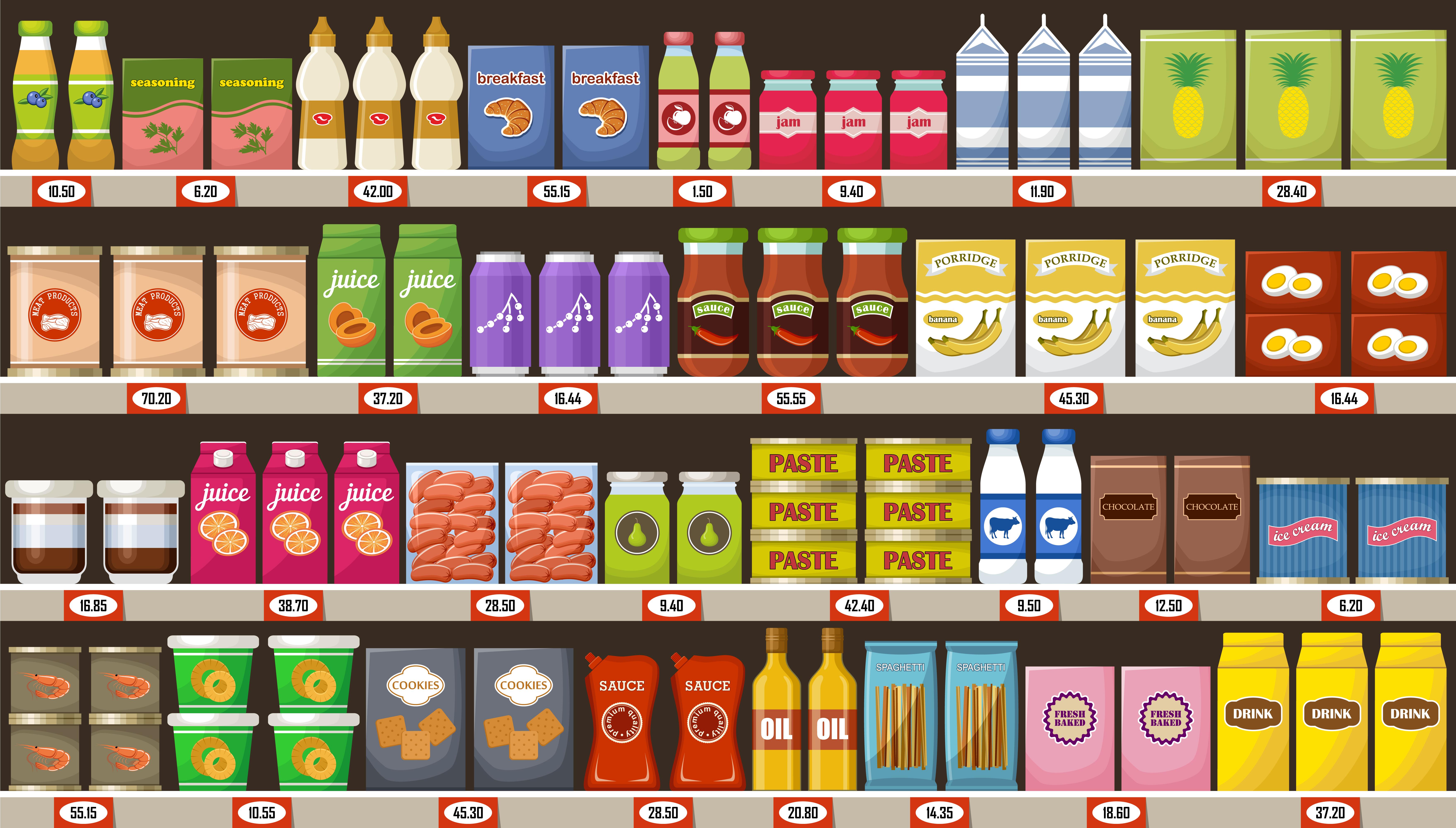Trvanlivé potraviny dominují pod privátními značkami v obchodech, nejmenší podíl mají lihoviny